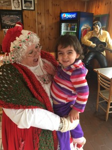 Lena Greco with Mrs. Claus