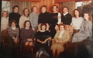 Final Crangle family Christmas portrait 1983