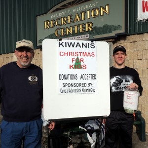 Kiwanis member Fred Trimbach and his grandson Andrew