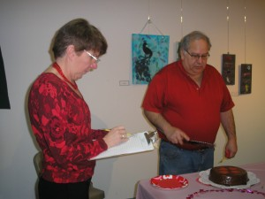 Judges Barb Getty and Dave Berkstresser