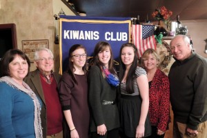 Left to right: Diane Amos, Town of Webb School Key Club Advisor; Ray Schoeberlein, Kiwanis Student of the Month Co-chair; Melissa Rockhill, January Student of the Month; Rebecca Sessions, December Student of the Month; Madison Rice, February Student of the Month; Kandis Griffin, Town of Webb School Counselor and Carmen Mastroianni, Kiwanis Student of the Month Co-chair.