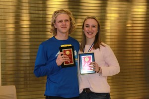 Individual Section Champs: Eric Houck (Nottingham) and Megan Greene (Old Forge)