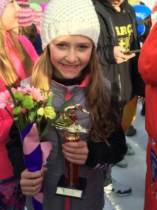 Karleigh Hollister was winner of the U12 Girls Skimeister Award