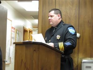Webb Police Chief Ron Johnston