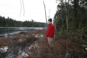 Grandson Jake at Trout Pond